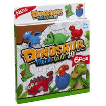 """Kūrybinis žaidimas """"Susikurk savo dinozauro šaldytuvo magnetuką"""" 3D"""
