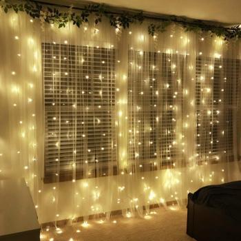 LED girlianda - užuolaida 3x3m