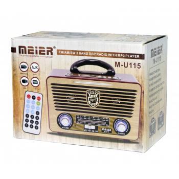 """Retro radijo grotuvas su Mp3 """"Meier M-U115"""""""
