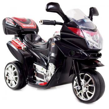 Naujausias vaikiškas juodas akumuliatorinis motociklas su daiktadėže ST-C051 (WDC051)
