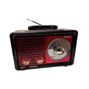 Nešiojamas retro radijo grotuvas su Mp3 Meier M-150U