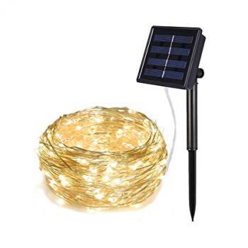 LED vielos girlianda pakraunama nuo saulės 10m